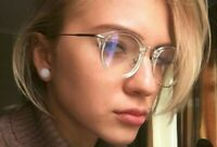 Vintage Glasses Frame Men Women Round Frame Clear Lens Multicolor Spectacle