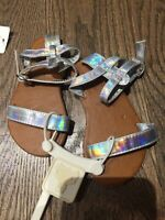 NWT Baby Gap Silver Dressy Sandals Size 5 Baby Sell As Is