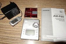 AIWA F65 Minidisc MD Player  (68) Silber + Remote + Sharp Leistungsnetzteil