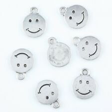 F36294*50pcs Tibetan Silver Happy Smiling Smile Face Charms Pendant Bead Finding