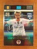 MARTIN ODEGAARD 2016 ROOKIE FIFA 365 Adrenalyn XL #375 Signatures Card MINT