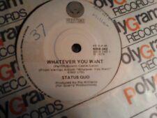 "Status Quo whatever you want prog rock Australia press 7""  45"