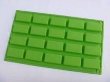 Molde Jabón de Torta 20-Oblongo Rectángulo Flexible de Silicona Molde para Dulces damero de hielo