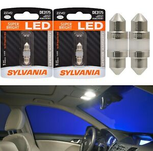 Sylvania ZEVO LED Light De3175 White 6000K Two Bulbs Interior Dome Upgrade OE