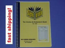 Spirax Tax Invoice & Statement Book No.555 no carbon required 50 duplicate sets