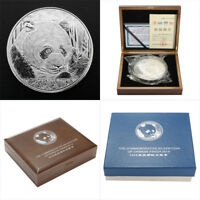 Panda  1000g Lunar Silbermünze Sondermünze 2018 Stempelglanz 20X18X6CM + Box