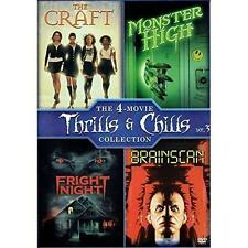 New! Horror 4 Film DVD Set: The Craft - Monster High - Fright Night - Brainscan