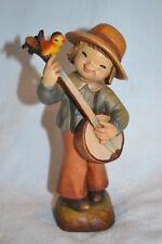 "Vtg. Anri Juan Ferrandiz ""HAPPY STRUMMER""  6"" Wood Carving  Italy 1917/2250"