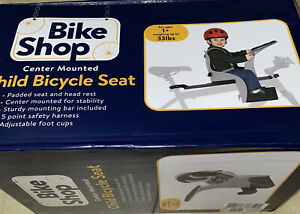 Bike Shop Child Bicycle Seat Center Mount Padded & Head Rest Sturdy Bar New