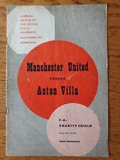 More details for 1957 charity shield - manchester united v aston villa