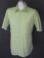 TED BAKER London Mens Green Floral and Striped SHIRT Ted Size 5 - Extra Large XL