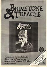 4/9/1982Pg7 Album Advert 15x10 Brimstone & Treacle, Motion Picture Soundtrack