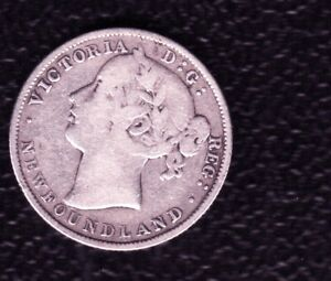 NEW FOUNDLAND  20 CENTS 1881 SILVER