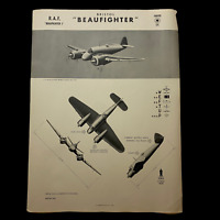 "WWII 1942 British RAF Fighter ""Bristol Beaufighter"" W.E.F.T.U.P. ID Poster"