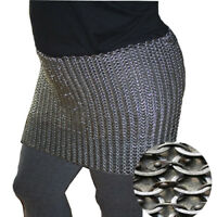 Medieval Knight Chain mail Skirt 6 mm Round Riveted With Warser Halloween Gift