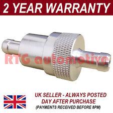 "Plata 3/8"" metal filtro fuel in línea universal aluminio anodizado"