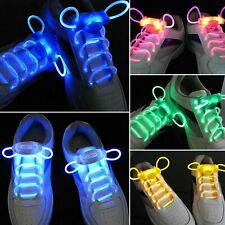 LED SPORT SHOE BLINK, STROBE, FLASHING LACES - BLUE, PINK, GREEN, YELLOW, WHITE
