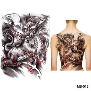 Einmal Tattoo Fake Tattoo Chinesischer Drachen Temporary Tattoo  42x32cm MB-015