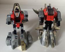 2 X Vintage Hasbro Transformers G1 Autobot Dinobot Slag And Snarl
