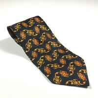 90s Vintage GIANNI VERSACE VERSUS Mens Tie | 100% Silk Made in Italy Medusa