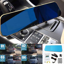 "4.3"" Monitor Dual Lens Car Reverse Backup Rearview Mirror Recorder Video Camera"
