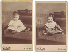 Two CABINET PHOTOS OF BABY GIRL NAME ON BACK of Both -Berlin, Wis.at 6 Mo.& 9 Mo