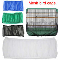 Soft Seed Catcher Guard Mesh Pet Bird Cage Cover Shell Skirt Traps Cage Basket
