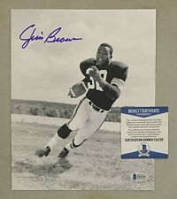 Jim Brown Signed 8x10 Photo Autographed Beckett BAS COA Cleveland Browns HOF