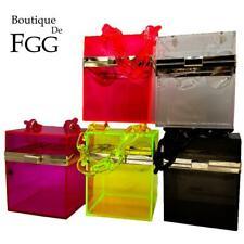 MINI Box Transparent Acrylic Clutch Women Evening Bags Party Cocktail Handbags
