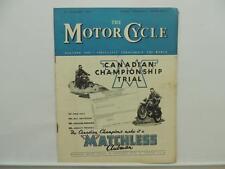 January 1949 THE MOTORCYCLE Magazine Matchless Clubman Scramble L8319