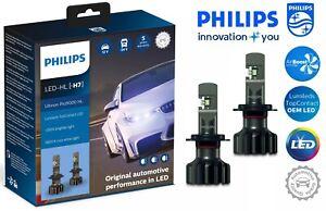 Philips H7 Ultinon Pro9000 LED Car Headlight Bulbs +250% 5800K 11972U90CWX2