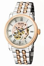 Gevril Men's 2693 Vanderbilt Automatic Roman Numerals Two-tone Steel Wristwatch