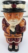 "HUGE / VINTAGE CROWN DEVON ""BEEFEATER"" CHARACTER / TOBY JUG. 22CMS HIGH !!!"