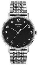 New Tissot Everytime Anthracite Dial Stainlesss Steel Men's Watch T1094101107200