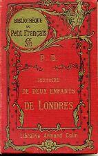 ENFANTINA. HISTOIRE DE DEUX ENFANTS DE LONDRES. P.D. BIBLIOTH PETIT FRANCAIS ILL