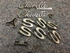 "Vintage Chevrolet Chevelle Badges-Includes Several ""SS"" Emblems"