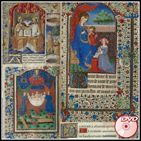 BOOKS of HOURS - 9 Very Rare COLOR Illuminated Manuscripts - 1400-1500 - DVD