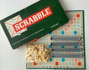 Spears Games Vintage 1948-1955 Scrabble Word Tile Classic Board Game. Complete.