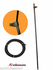EARTH GROUNDING ROD, CLAMP & INSULATED WIRE -  ELECTRIC FENCE ENERGISER SOLAR