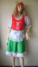LADIES SWISS HEIDI BAVARIAN BEER GIRL FANCY DRESS COSTUME 10-12 USED