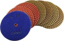 "4"" Wet Diamond Polishing Pads Set of 7 for Granite/Concrete/Marble Countertop"