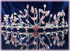 """DIADEME cristal rose """"légèreté"""" Bijou de tête Mariée Miss accessoire mariage"""