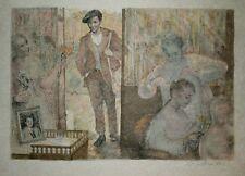 Lucien Philippe MORETTI-Lithographie signée -Sac de billes : le coiffeur