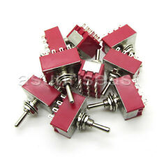 50×Mini Toggle Switch 4PDT 2 Position ON-ON 12-PIN 250V 2A 125V 6A Wholesale