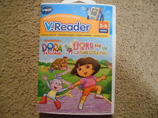 NEW Vtech V.Reader Dora and the Three Little Pigs 3-5 yrs Reading Games