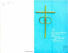 """Wedding Bulletin Blue, Gold, Cross, Bands/Rings 8 1/2"""" x 11""""  PACK OF 50"""