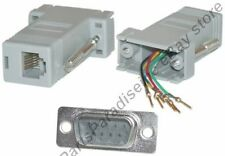 Lot50 DB9pin Male~RJ12/RJ11 Jack Modular Adapter 6P6C 6wire Aux/Phone/Telephone