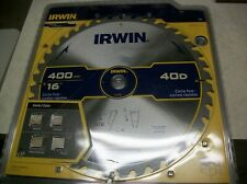 "Irwin 16"" Carbide Tipped Beam Saw Blade 40 Teeth 30mm 25mm 20mm Arbors 15195"