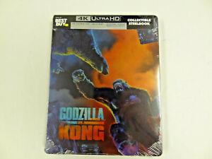 Godzilla vs Kong 4K Blu-Ray Digital Collectible Steelbook NEW Best Buy Exclusive