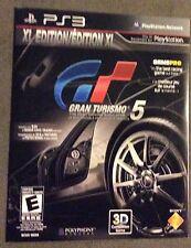 Gran Turismo 5 XL Edition (PlayStation 3, 2012) - NEW